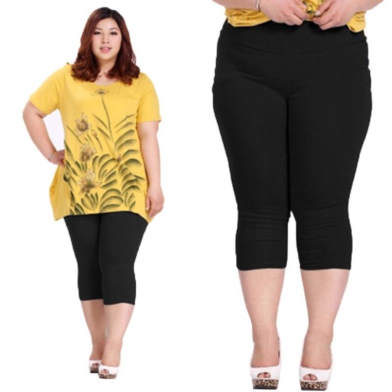 Iselinstorm Comprar Buena Calidad Talla Extra Grande Mujer Pantalones Capris Verano Super Elastico Color Caramelo Elasticos Longitud De Pantorrilla 6xl Online Baratos
