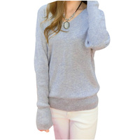 MALL New Arrival Women Sexy V Neck Sweater Loose Wool Sweater Batwing Sleeve Pullover 10 Colors
