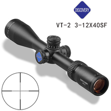 лучшая цена HOT Optic Sight Airsoft DISCOVERY VT-2 3-12X40SF Side Second Focal Plane Rifle Scope Gun Accessories Hunting Rifle Scope