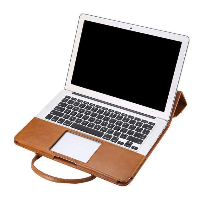 Laptop Case Protective Cover Laptop Bag PU Leather Case Breathable Handheld Waterproof Case Cover For Apple Macbook 11 13.3 Inch