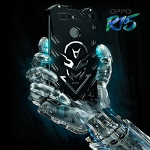 OPPO R15 case Metal fundas Rigid neat case for OPPO R15 Powerful Shockproof case for OPPO R15 Zimon heavy duty protection coque