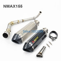 Akrapovic Motorcycle Scooter Exhaust NMAX155 Stainless Steel Mid Section Large Displacement Sports Car Exhaust Pipe Full set
