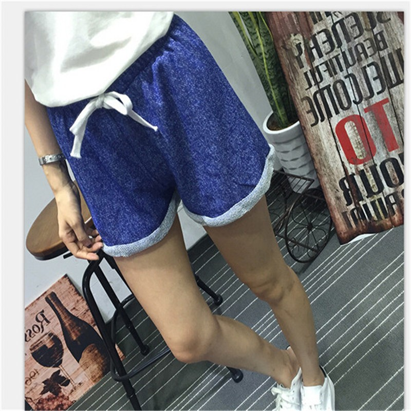 Summer New Women Elastic Waist Tunic Drawstring Elegant Beach Pocket Cuffs Casual Brand Shorts 11