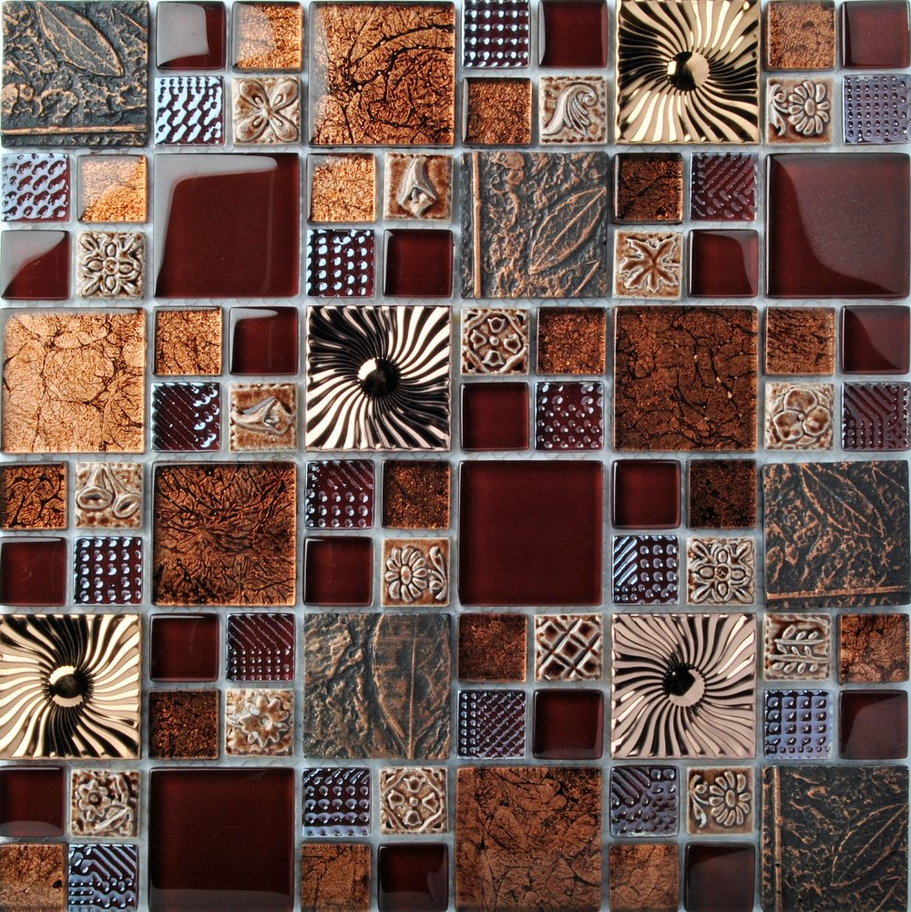TST Glass Mental Tile Brown