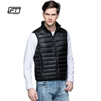 Fitaylor 2017 New Winter Men Down Vest Ultra Light 90 White Duck Down Outwear Sleeveless Warm