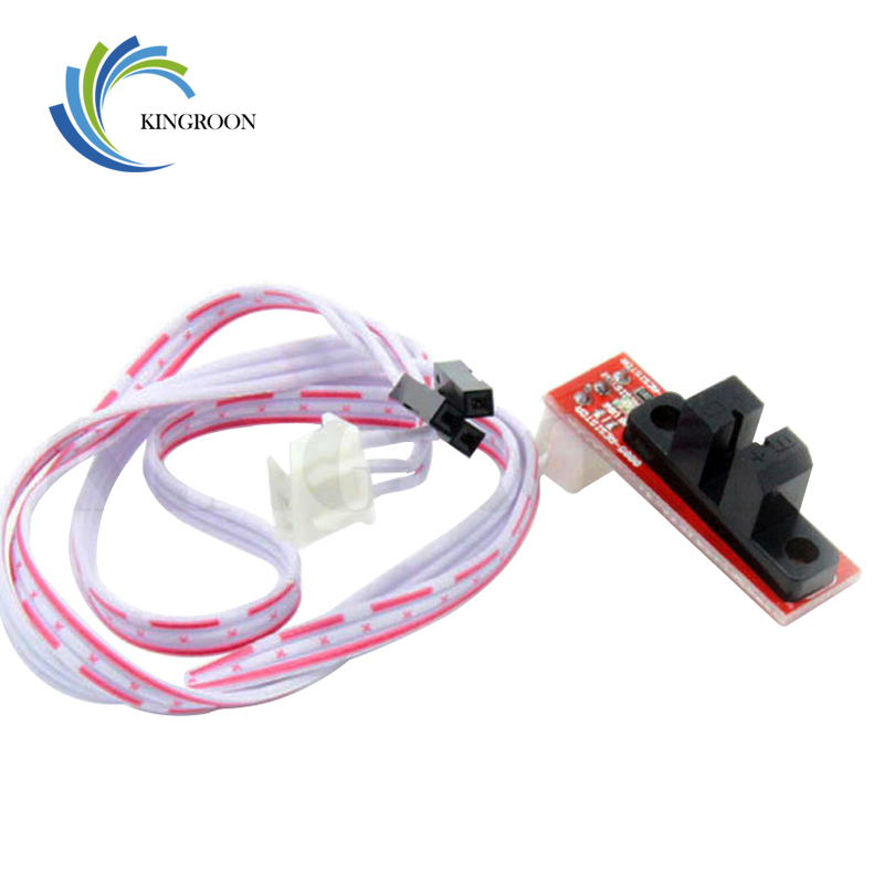 6pcs/lot Optical Endstop Light Control Limit Switch For RAMPS 1.4 Board 3D Printer Parts with 3 Pin Cable Red Part Accessories 1(China)