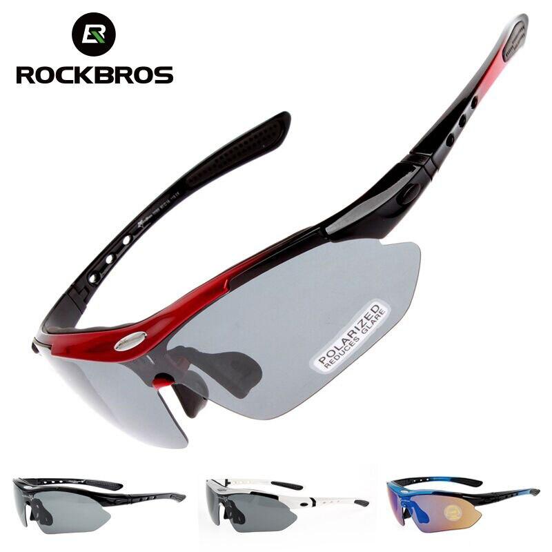 Hot RockBros Polarized óculos de sol ciclismo Outdoor Sports óculos de bicicleta oculos bikeTR90 óculos Eyewear 5 Lens #10007