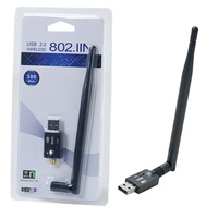 300Mbps USB Wireless Adapter WiFi Network Lan Card RTL8192 EU With 5dBi Antenna For Laptops PC