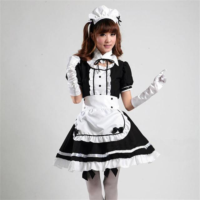 french sissy halloween adult japanese anime plus size maid ...