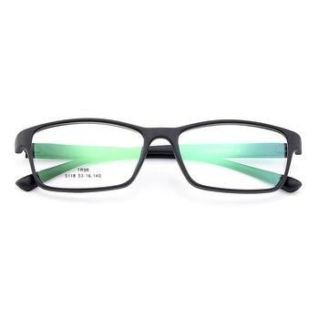 d425c489dc BAONONG nueva llegada Simple diseño Extra-fino TR90 anteojos ópticos de borde  completo del marco