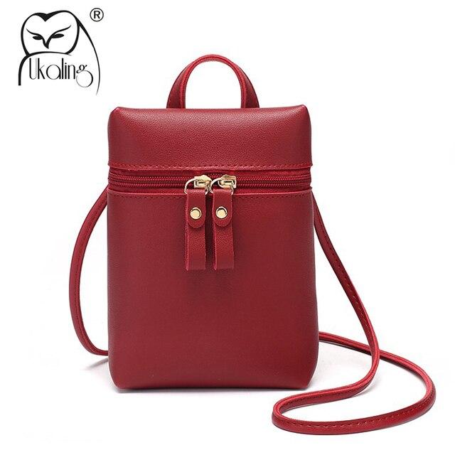 9a6b5bbf1bf6 UKQLING Small Women Bag Mini Phone Bag Crossbody Bag Sling Shoulder  Messenger Bag Lady Clutch Purse