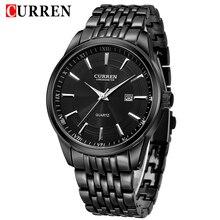 2018 CURREN יוקרה גברים שעונים גברים של אופנה נירוסטה קוורץ שעון זכר עסקי תאריך אנלוגי שעון מתנת Relogio Masculino