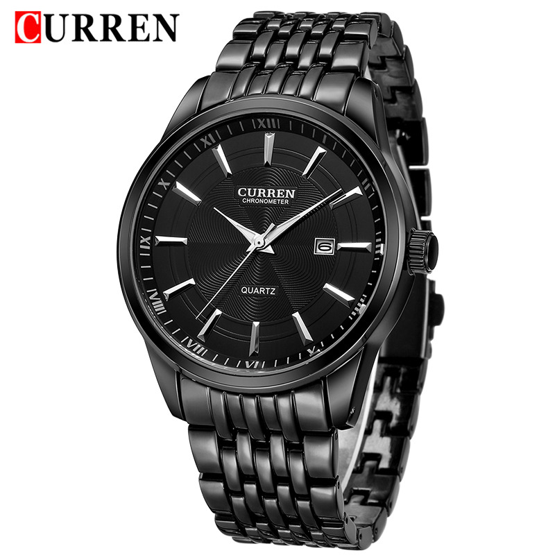2018 <font><b>CURREN</b></font> Luxury Men Watches Men's Fashion Stainless Steel Quartz Watch Male Business Date Analog Clock Gift Relogio Masculino image