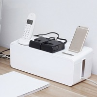 Multifunctional Practical Portable Design Plastic Wire Neat Home Storage Box Power Cable Line Storage Box Case Organizer Tool