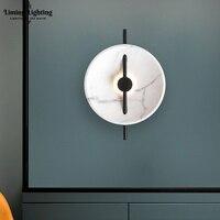 Postmodern Modern Marble like Resin LED Wall Lights Home Living Room Corridor Wall Lamp Cafe Lighting Bedside Stair Mirror Light