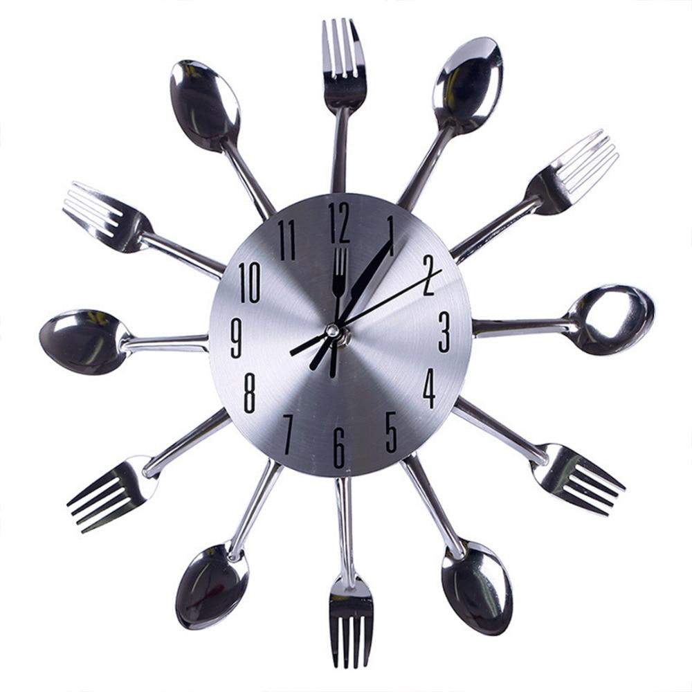 Moderno orologio da parete per cucina ARGENTO POSATE OROLOGI ...