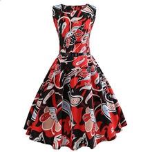2019 New Hot Selling Retro No Print Big Swing Dress Vintage Sleeveless Bow Regular Empire O-Neck