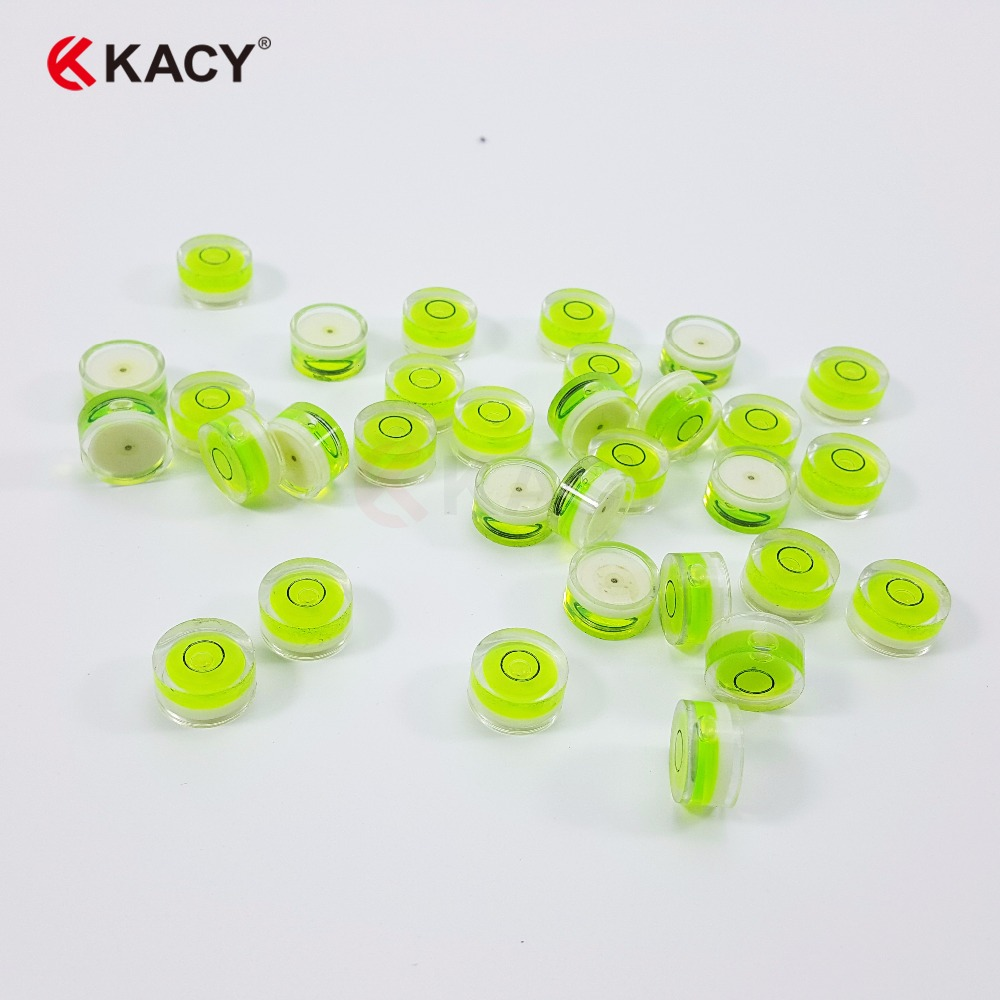 kacy 18x9mm Free shipping Plastic Circular Vial Spirit Bubble Level bubble level for Camera and tripods in Level Measuring Instruments from Tools