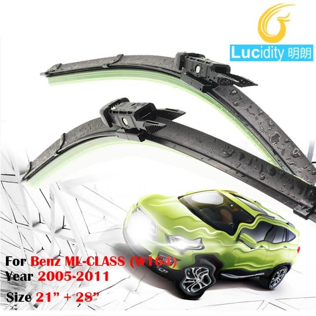 Car Frameless Windshield Windscreen Wiper Blade Auto Borracha Macia Wiper Blades 2 Pcs Para 2005-2011 Mercedes-Benz ML-CLASS (W164)