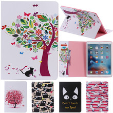 For IPad Pro Cute Cartoon Flower with Card Slot Stand Flip PU Leather Coque Case sFor Apple IPad Pro 12.9 Inch Tablet Cover Case litchi texture pu pc horizontal flip leather case for galaxy note 9 with with card slot black