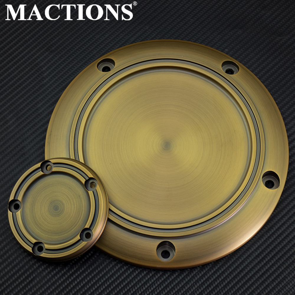 Retro Brass Derby Cover Timing Timer Cover engine cover For Harley Touring Electra Glide Classic FLHTCU