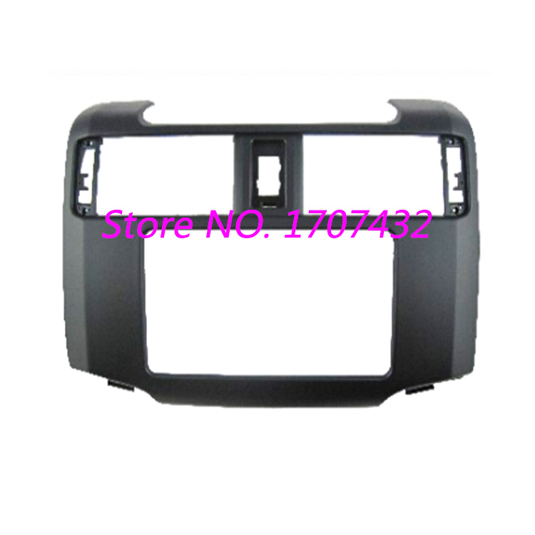 цены  High quality Free shipping Car Radio Fascia Panel Face Plate For TOYOTA 4Runner 2012+ Stereo Facia Trim Dash CD Installation Kit