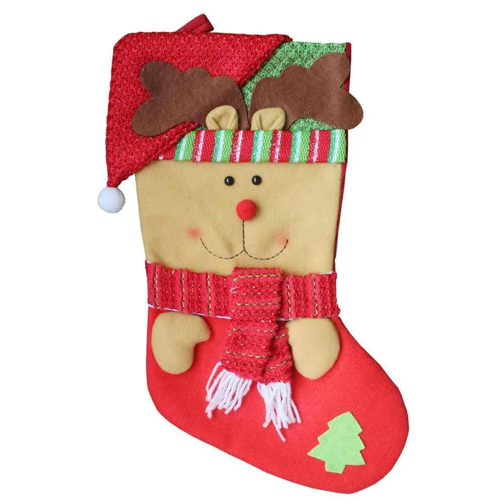 Новогоднее украшение подвеска Большой рождественские носки детей Рождественский подарок сумки дома и гостиницы декоративные элементы
