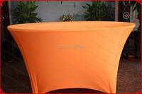 Orange Color Lycra/Spandex Table Cover/Tablecloth/Table Runner/Chair Cover for Wedding/Hotel/Banquet/Party/Home decor&textile
