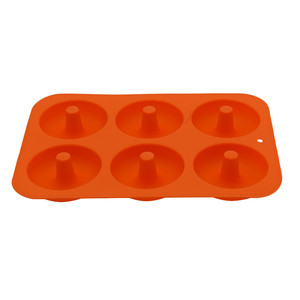 Image 5 - 6 Cavity silikon çörek fırın tepsisi el yapımı Bakeware seti DIY Donut kek silikon Bakeware kalıpları ve kek dekorasyon araçları