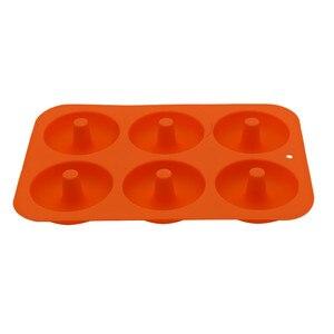 Image 5 - Силиконовая форма для выпечки пончиков, 6 полости, набор для выпечки ручной работы, инструменты для украшения тортов