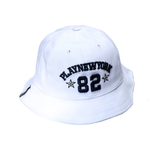 825640ea4f3 Women Letter Embroidery Bucket Hat PLAY NEW YORK Men Casual Cap Travel  Fisherman Hats