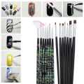 14Pcs Marbleizing Nail Brush Pen Acrylic Manicure UV GEL Nail Art Dotting Brush Pen Builder Liner For Nail Design Brush Pen Sets