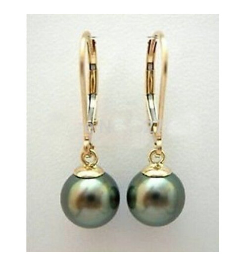 Genuine Pretty 10 Paires 8 Mm Blanc Akoya Round Shell Perle Or boucles d/'oreilles Clou