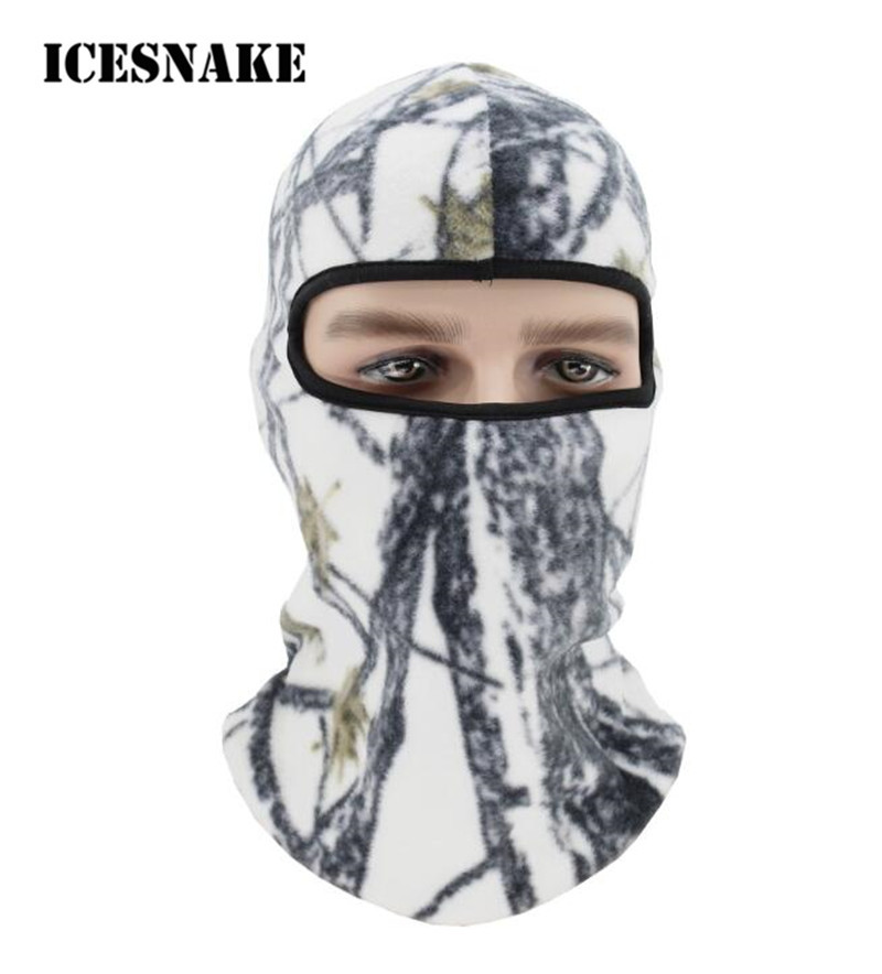 ICESNAKE Winter Thermal Fleece Ski Face Neck Mask Balaclava Hood Camping Airsoft Tactical Cap Hat Headgear long keeper 10pc lot balaclava winter men women skullies face neck mask cap thermal winter cyling bike riding running hat