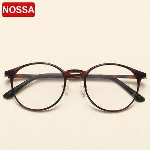 Image 2 - NOSSA جودة التنغستن Ultem إطارات النظارات الرجال والنساء إطارات النظارات البصرية المستديرة خمر خفيفة إطار نظارات شمسية غير رسمية