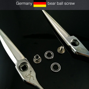 Image 2 - Titan haar verdünnung schere mit bart ball schraube VG10 STAHL kostenloser versand