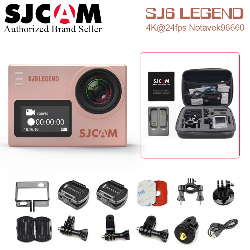 "Battery+Charger+Bag~ SJCAM SJ6 Legend ,Legend Air 4K Action Camera 16 MP Gyro 2.0"" Touch Screen NTK96660 30M Waterproof Camera"