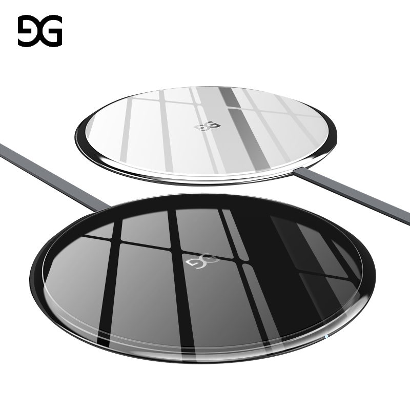 GUSGU Wireless Charger for iPhone 8/8 Plus/X 10W Qi Wireless Charging Portable Wireless Charger for Samsung Galaxy S8/S8 Plus
