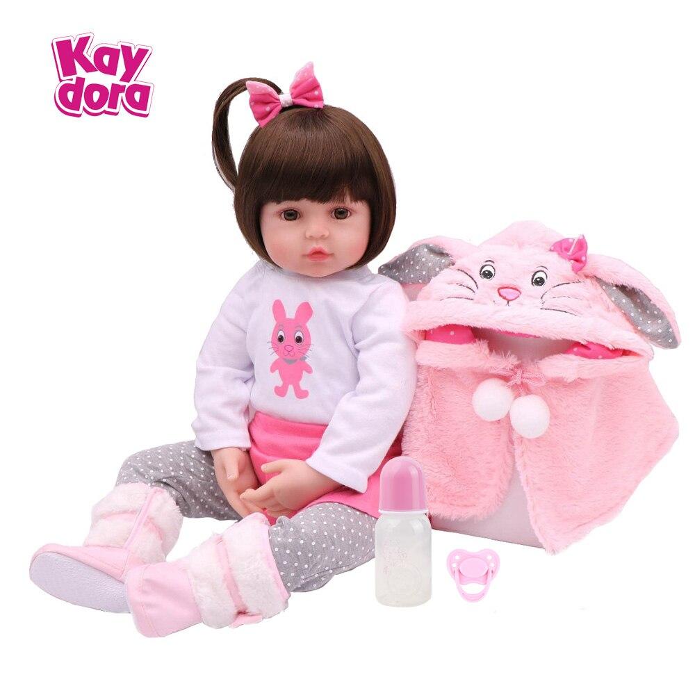 18 inch 45 cm Silikon Reborn Baby Puppen Baby Lebendig Realistische Boneca Bebe lol Lebensechte Echt Menina Mädchen Geburtstag Spielzeug für Kinder