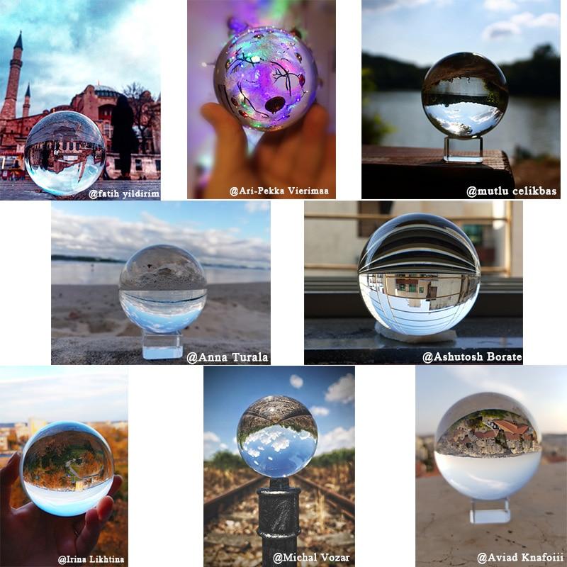 60/70/80MM Photography Crystal Ball Ornament FengShui Globe Divination  Quartz Magic Glass Ball Home Decor Sphere bola de cristal