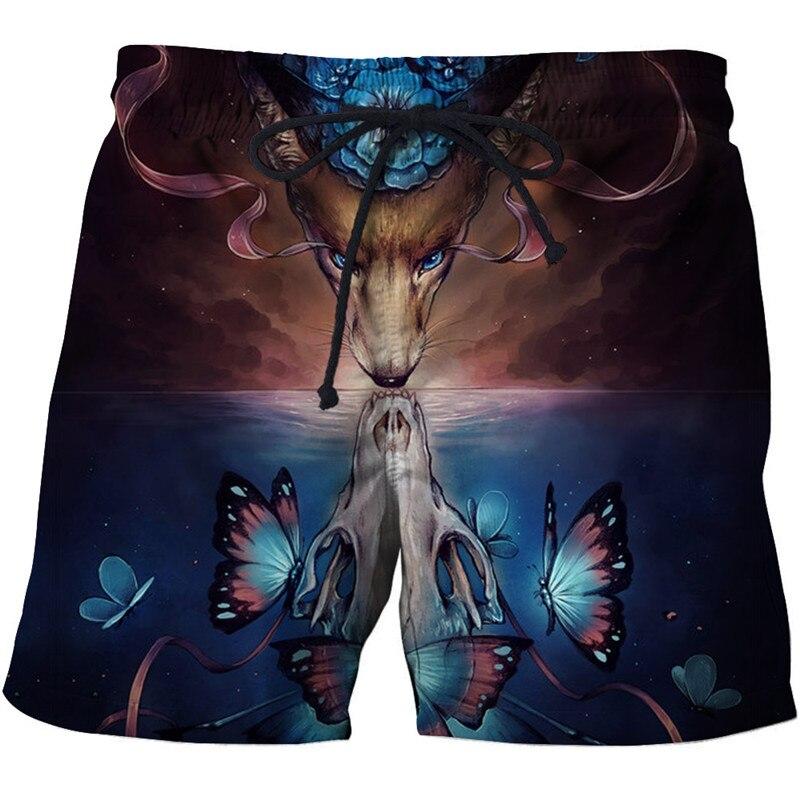 Wolf Printed Beach   Shorts   Men Pants Funny   Board     Shorts   Plage Quick Dry   Shorts   Cartoon Swimwear Fashion 8XL Drop Ship ZOOTOP BEAR