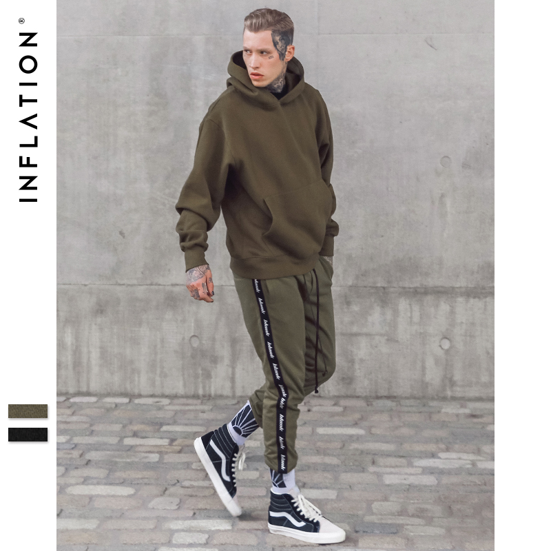 new arrival 3b767 a96f0 INFLATION 2018 Autumn Men Sweatpants Joggers Fashion Letter Printing Harem  Pants Split Ribbon Ribbing jogger pants men 305W17 -in Sweatpants from Men s  ...