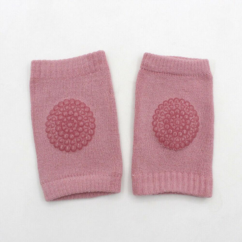 Детские Аксессуары для младенцев защитные локоть ползающие наколенники дышащий утеплитель протектор силикагель в горошек противоскользящие наколенники - Цвет: Красный