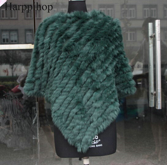 free shipping spring autumn Genuine Real Knitted Rabbit Fur s