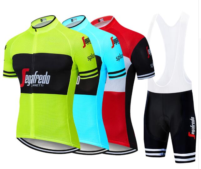 2019 UCI Cycling Clothing Bike Jersey Quick Dry Mens Bicycle Clothing Summer Trekking Team Cycling Jersey Gel Bike Shorts Set