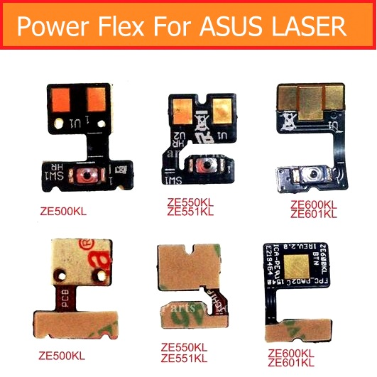 Geunine Power Button Flex Cable For Asus Zenfone Laser Ze500KL Ze550kl Ze551kl Ze600kl Ze601kl Lock Screen&Switch On Off Keypad