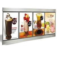 (6 Graphics/column) Single Sided Slim Led Menu Light Box, Led Menu Board,Menu System Slim Lightbox for Hotel,Restaurant