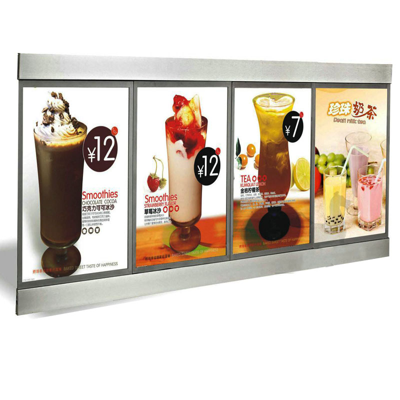 Led Menu Board,menu System Slim Lightbox For Hotel,restaurant Sophisticated Technologies Single Sided Slim Led Menu Light Box 6 Graphics/column