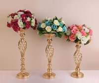 Antique Flowers Vanse Display Flower Stand Candle Holders Hotel Party Wedding Table Centerpieces Metal Stand Pillar Candlestick