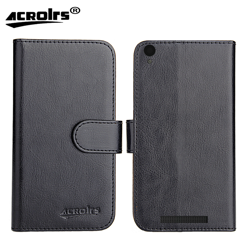 Archos 50 Access 4G Case 2017 6 Colors Flip Dedicated Leather Exclusive 100% Special Phone Cover Cases Card Wallet+Tracking